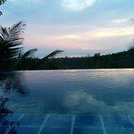 Your infinite pool overlooking the bay