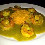 Braised Shrimp in Salsa Verde