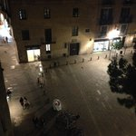 View of the square from one of our balcony's.