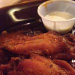 Chicken wings - baked then fried