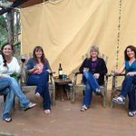 Glamping is better with friends and wine