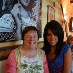 Fabiana, in blue, was a warm, welcoming hostess