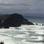 Stormy day from Cape Meares back toward Oceanside