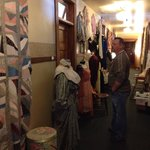 The hallway upstairs great vintage clothes