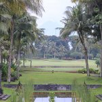 View of Mount Merapi and lovely gardens of Hotel
