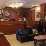 A recepção do hotel