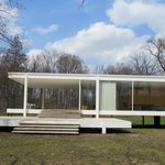 Farnsworth House from the south looking north.  Spectacular creation