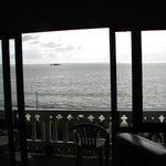View of the sea from inside unit