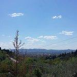 """Veduta su Firenze dalla camera """"Pendolino"""""""
