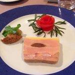 Foie gras avec morceau de homard!!!
