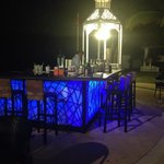Beautiful beachfront bar at night!