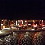 Sea grill restaurant at night