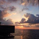Sunset from villa deck