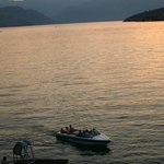 Evening boat activities from deck