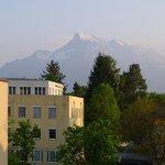Gasthof Junior - Sicht auf den Bergen von unserem Zimmer