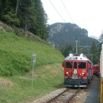 Bernina Express - picture from open carriage