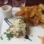 Pavé de boeuf sauce foie gras