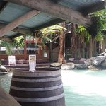 The entrance to the swim up bar