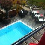 Blick auf dem Pool