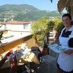 Terrasse des Frühstücksraums