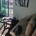 Lounge room looking onto balcony