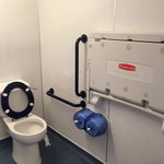 Men's toilets in soft play have baby changing facility