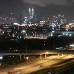 KLCC View from balcony of suite
