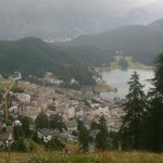 view over St. Moritz
