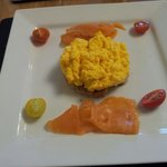 Smoked Salmon with Scrambled eggs!