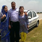 with our driver Fateh