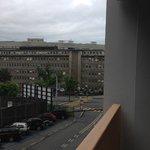 Vue sur la rue (Hôpital de Genève)