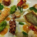Degustazione di pesci di cattura