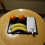 Fruit platter on our arrival