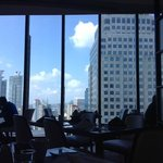 View on the 28th floor from where you eat breakfast