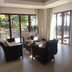 Sitting area in delxue beach suite