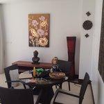 Dining area in delxue beach suite
