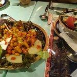Bean salad and green salad