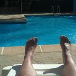Chilling by pool