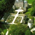 Photo aérienne du Château de Balleroy