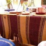 la table du petit déjeuner, pas très ragoûtant...