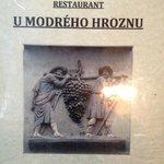 Nice menu at U Modreho Hroznu