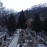 Cementerio de Zermatt. Atardecer
