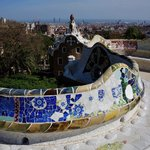 Park Guell with La Sagrada Familia in background