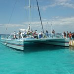 snorkeling catamaran set-up by resort What a Blast!