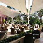 The terrace at the lobby bar