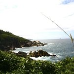 Lado leste da ilha