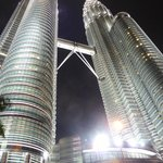 twin tower by night