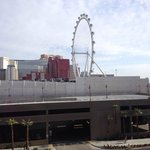 Room view from room 711.  Not a strip view but nice view of High Roller!
