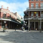 From Jackson Sq at Muriel's, you can see the hotel runs up Charters St.This is back of Courtyard