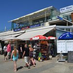 Blue Mare Restaurant, on the harbour at Paphos - poor quality on our visit